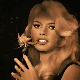 Brigitte Bardot - vintage van Christine Nöhmeier