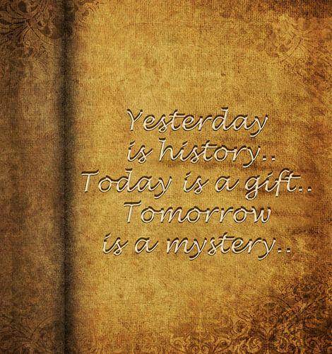 Yesterday is history... van