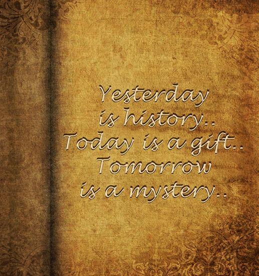 Yesterday is history... van Patricia Verbruggen