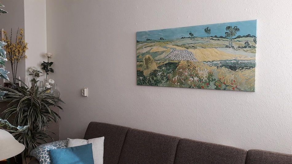 Kundenfoto: Die Ebene von Auvers, Vincent van Gogh