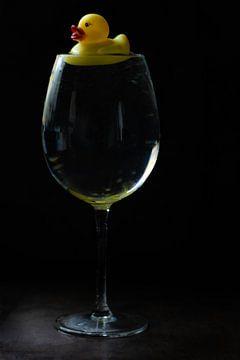 Drieluik Wijnglas van Jolanda Mol