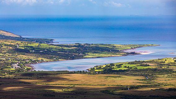 Uitzicht vanaf de Conor Pass, Ierland