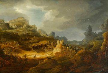 Fantastisch landschap, Jan Lievens