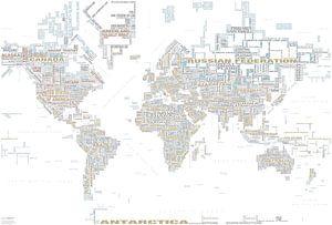 Typografische Weltkarte, Tendency von