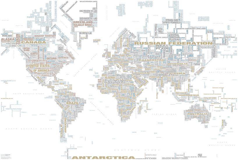 Carte Typographique Mondiale, Tendency sur MAPOM Geoatlas