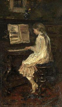 Mädchen am Klavier, Jacob Maris