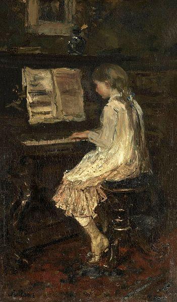 Mädchen am Klavier, Jacob Maris von Meesterlijcke Meesters
