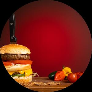 foodfotografie hamburger van Cindy van der Sluijs