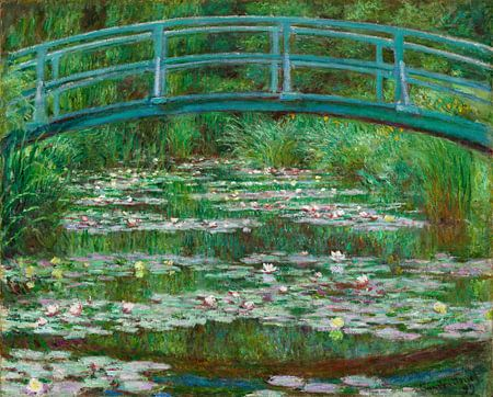 Die japanische Brücke, Claude Monet von Liszt Collection
