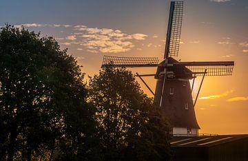 Molen in de ochtendzon. von Robin Pics (verliefd op Utrecht)