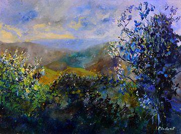 Kleurrijke heuvels van pol ledent