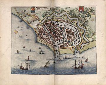 Vlissingen, Stadsplattegrond Joan Blaeu 1652 van Atelier Liesjes