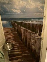 Kundenfoto: Wellenbrecher in HDR von Zeeland op Foto, auf nahtloser fototapete