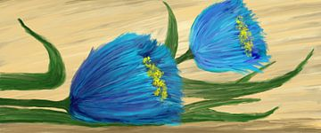 Liggende bloemen von Monique Schilder