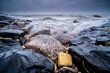 Wellenbrecher im IJsselmeer, Foto mit langer Verschlusszeit von Fotografiecor .nl