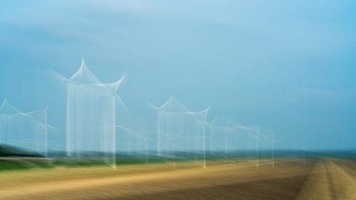 Moulins à vent dans le Flevoland