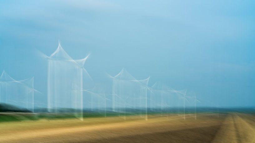 Windmolens in Flevoland van Annemarie Hoogwoud