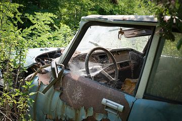 Auto in Verval op Autokerkhof van Perry Wiertz