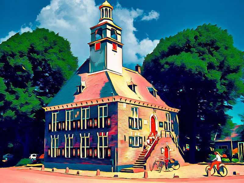 Monument in Winkel von Digital Art Nederland
