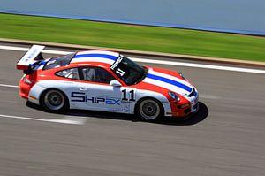Speeding Porsche