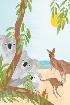 Koala's en kangoeroes van Karin van der Vegt