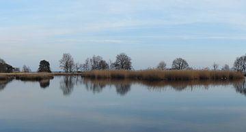 spiegelende lucht in een ven von Wim vd Neut