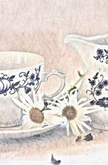 Stilleben mit Blüten