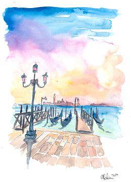 Die berühmte Venedig San Giorgio Maggiore Ansicht mit Gondeln von Markus Bleichner