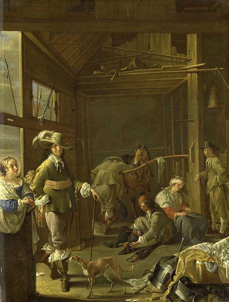 Krijgslieden in een paardestal, Jacob Duck van Meesterlijcke Meesters