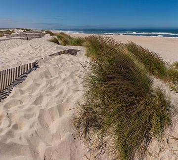 Praia da Costinha, atlantische kust, Costa Nova,  Aveiro, Beira Litoral, Portugal van Rene van der Meer
