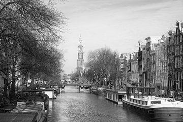 Prinsengracht  met de Westerkerk in Amsterdam van Barbara Brolsma