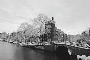 Prinsengracht Winter-Schnee