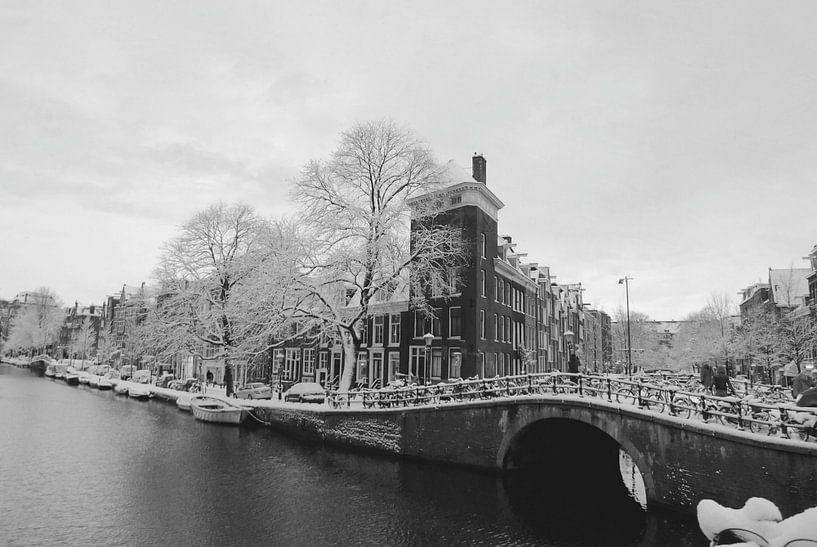 Prinsengracht Winter-Schnee von Marianna Pobedimova