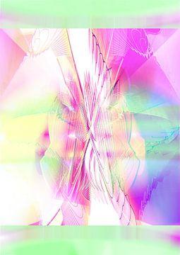 Pink Green Heaven van Jeroen van der Steen