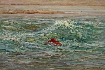 John Ottis Adams~De Wave-Whitewater, Brookville, Indiana (Herbst über Wildwasser)