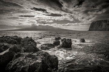 Ansicht des Pico von Faial, Azoren von Marcel Bakker