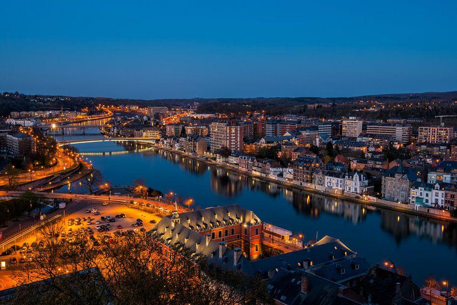 Namur bij nacht van Bert Beckers