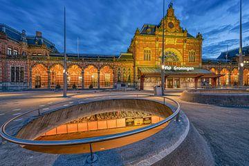 Stationsplein Groningen van Peter Korevaar