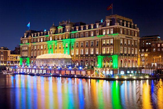 Amstel Hotel nachtfoto te Amsterdam