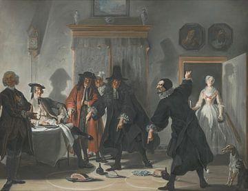 Die Mathematiker oder die junge Dame, die geflohen ist, Cornelis Troost