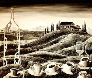 Delizie toscane (sepia) von