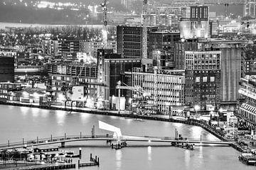 Rijnhaven Rotterdam - einfarbig von Frans Blok