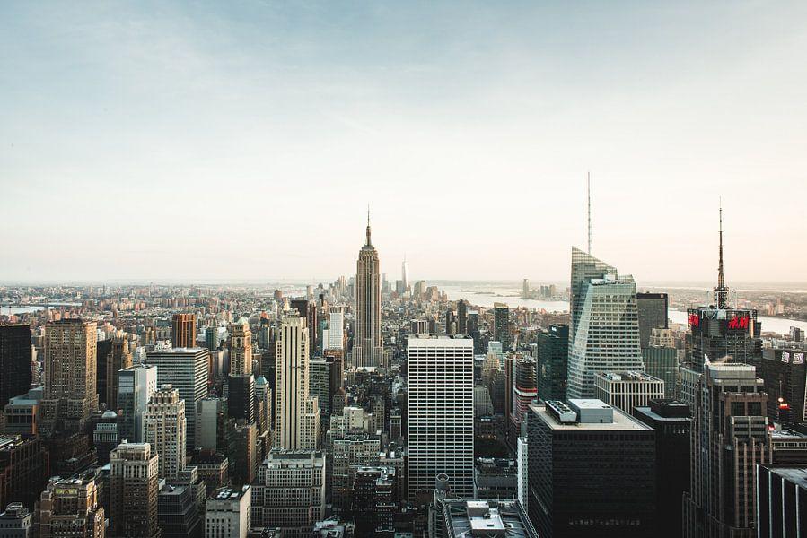 New York Skyline van Dennis Wierenga