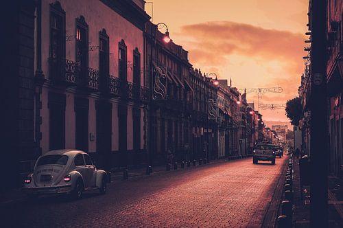 VW Kever in de straten van Puebla (Mexico)