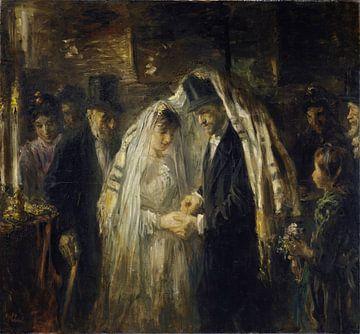 Jüdische Hochzeit, Jozef Israëls von Meesterlijcke Meesters