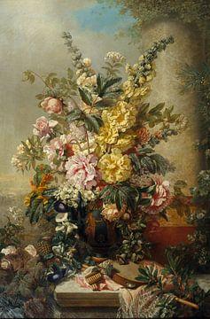 Grand vase à fleurs, Josep Mirabent sur
