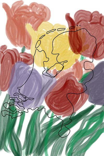 La Hollande dans les tulipes sur MishMash van Heukelom
