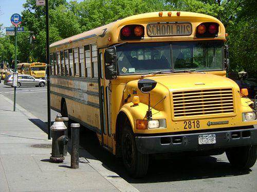 School bus new york city onbewerkt van