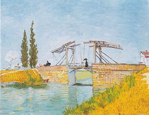 Vincent van Gogh. Dame met paraplu op de brug van Langlois in Arles