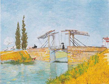 Die Brücke von Langlois in Arles mit Dame mit Regenschirm, Vincent van Gogh von